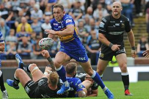 Shaun Lunt on the attack against Hull FC.  Picture: Tony Johnson.