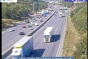 The lane is closed on the southbound carriageway between J29A andJ29.