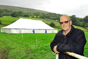 David Guy, president of Reeth Show, pictured at the showground. Picture by Gary Longbottom.