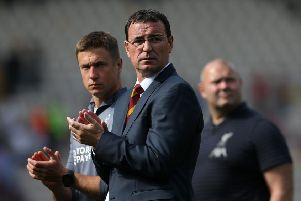 DISAPPOINTMENT: Bradford City's manager Gary Bowyer. Picture: Barrington Coombs/PA