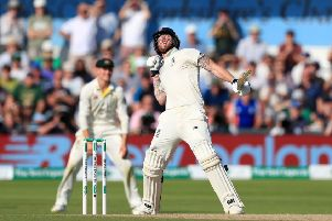 England's Ben Stokes celebrates winning the third Ashes Test match at Headingley, Leeds.