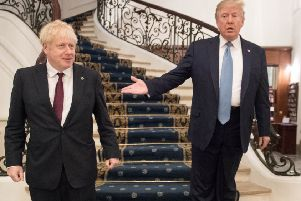 Boris Johnson met world leaders, including President Donald Trump, at last weekend's G7 summit in France. Photo: Stefan Rousseau/PA Wire