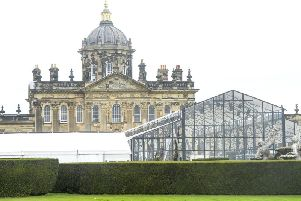 A marquee has been put up at Castle Howard ahead of Ellie Goulding's wedding reception. Picture: SWNS.