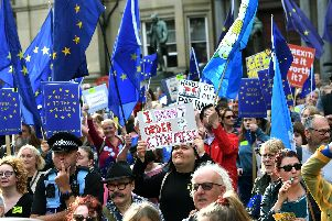 The anti-Brexit rally in City Square. Picture by Jonathan Gawthorpe.