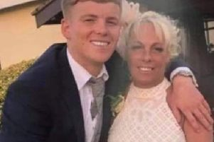Billy Livesley with his mum Sylvia Mitchell