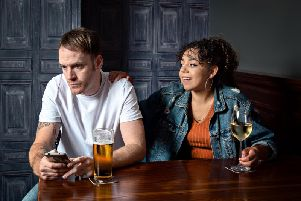 Tom Swift as Jim and Alyce Liburd as Sara. PIC: Anthony Robling