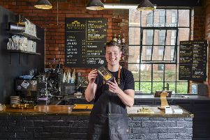 Max Scotford at Bullion Craft Chocolate in Sheffield. Picture Scott Merrylees