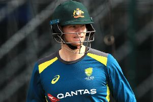 Australia's Steve Smith during a nets session at Old Trafford. Picture: Simon Cooper/PA