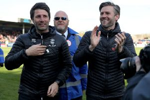 Wanted men: Lincoln City manager Danny Cowley, left, and brother and assistant manager Nicky.