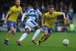 New Bradford City signing: Queens Park Rangers' Aramide Oteh in FA Cup action against Leeds United.  Picture: Tony Johnson
