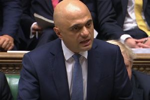Chancellor Sajid Javid delivers his spending review. Pic: PA