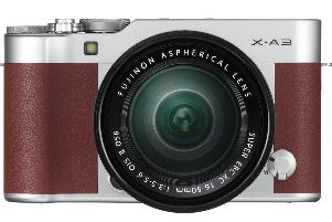 The Fujifilm X-A3 mirrorless camera in camel brown can be had for just over �250