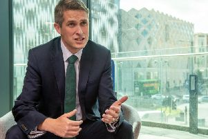 Education Secretary Gavin Williamson at the formal opening of the new Quarry Hill campus at Leeds City College. Picture by Bruce Rollinson.