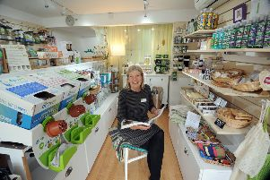 Feature on Fink Home and Narure, High Street, Boroughbridge..Sharon Longcroft pictured in the shop.10th September 2019.Picture by Simon Hulme