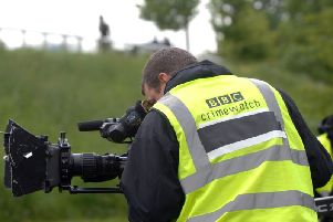 Filming for BBC Crimewatch. Picture by Gerard Binks.