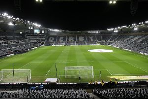 Pride Park will host Derby v Cardiff on Friday night.