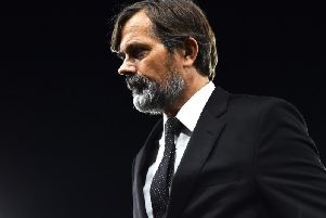 Phillip Cocu during the game with Cardiff City.