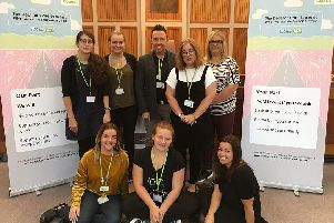 Staff from Wigan Council with care leader Steph Gore