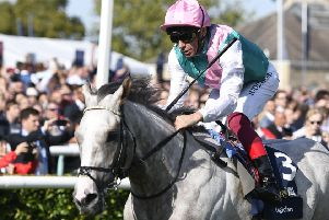 Frankie Dettori produced a riding masterclass to win the St Leger on Logician.