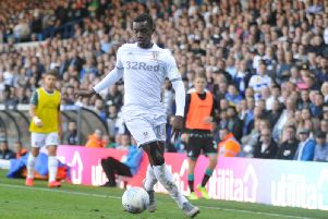 Eddie Nketiah, who came off the bench to score for Leeds United at Barnsley.